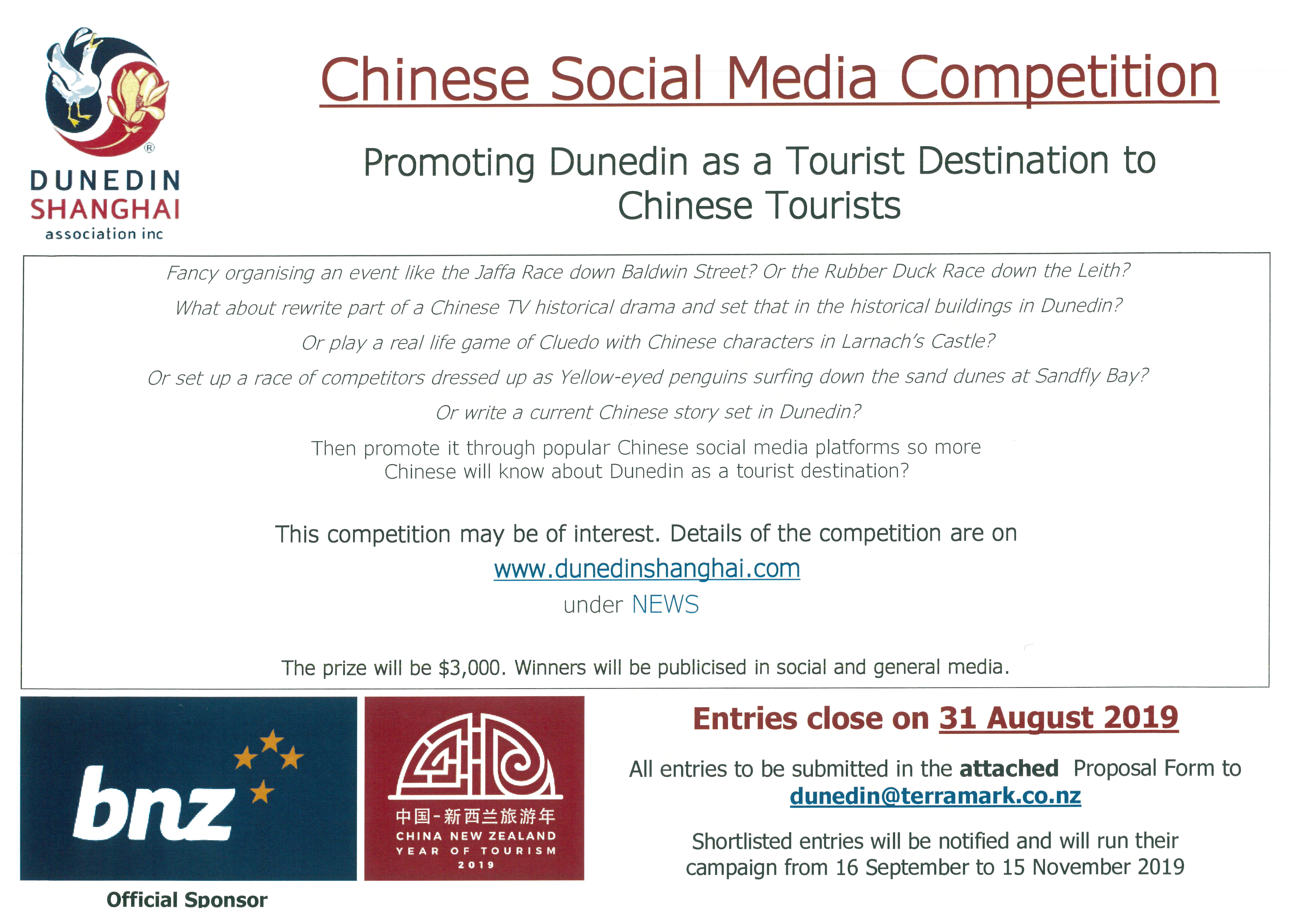 Promoting Dunedin as a Tourist Destination to Chinese Tourists